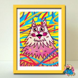 Puss Art Print