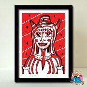 Devil Woman Art Print
