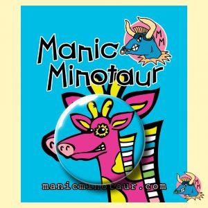 Pink Giraffe Pocket Mirror
