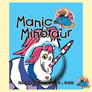 Awesome Unicorn Pocket Mirror