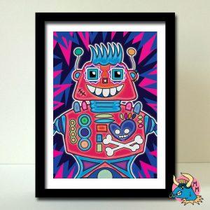 Rebel Robot Art Print