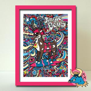 Rocket Rudolph Art Print