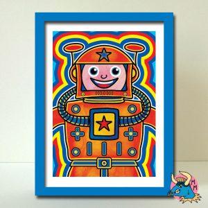 Cosmonaut Art Print