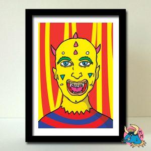 Yellow Devil Art Print