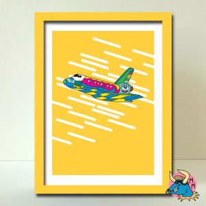Yellow Shuttle Art Print