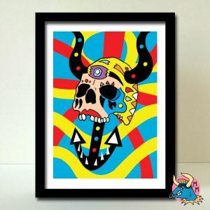 Deep Sea Skull Art Print