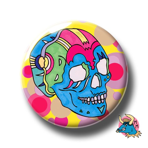 Blue Skull Badge