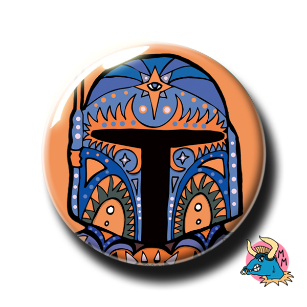Boba Fett Badge Orange