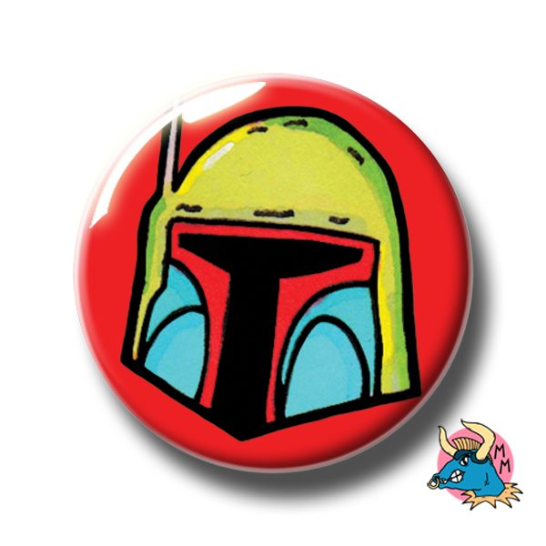 Boba Fett Badge Red