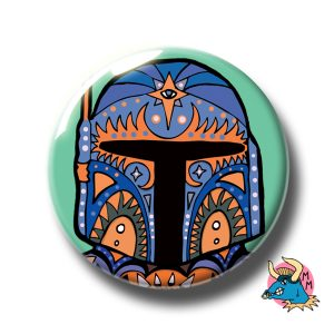 Boba Fett Badge Teal