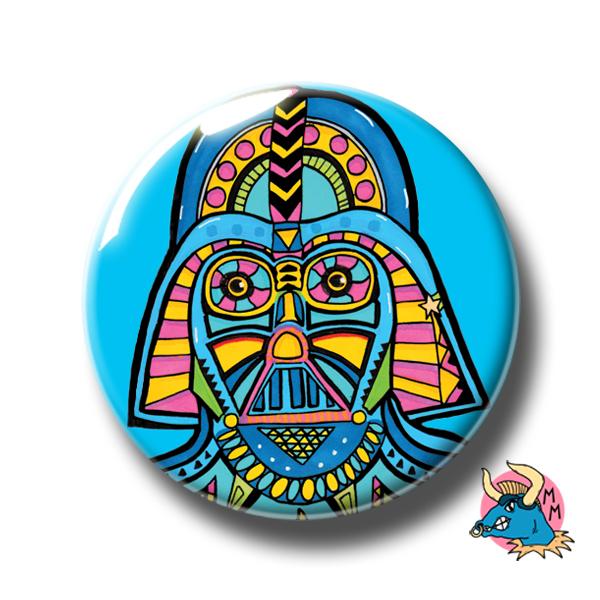 Darth Vader Badge Blue