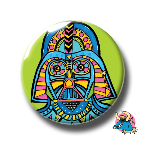 Darth Vader Badge Green