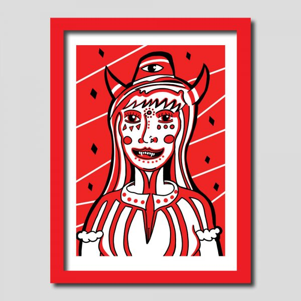 Devil Woman Art Print