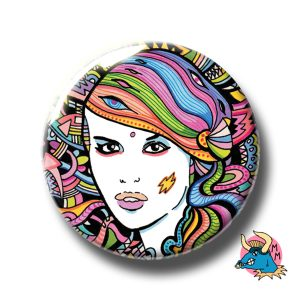 Electric Girl Badge