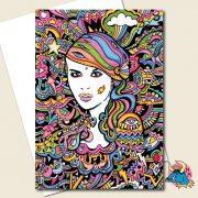Electric Girl Greeting Card