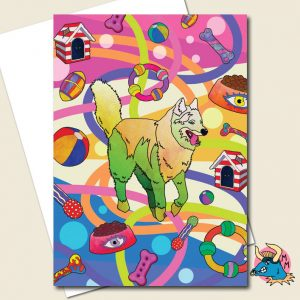 Husky Greeting Card