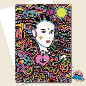 Goth Girl Greeting Card