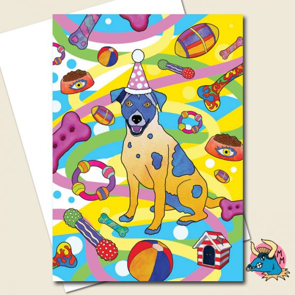 Party Dog Greeting Card