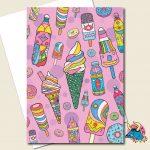 Ice Creams Greeting Card