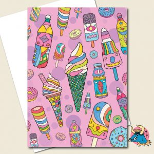 Ice Creams Greeting Card