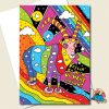 Goat Psychedelic Greeting Card