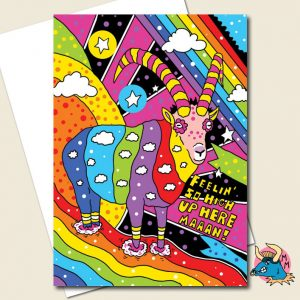 Rambow Greeting Card