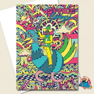 Space Cowboy Greeting Card