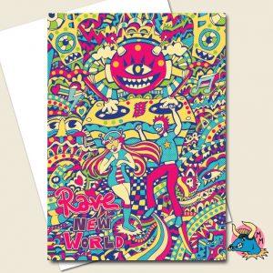 Rave Greeting Card