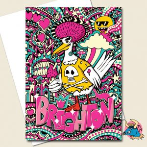 Seagull Syd Brighton Greeting Card