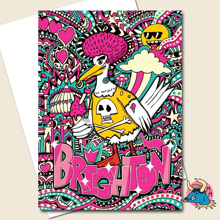 Brighton Seagull Greeting Card