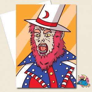 American Werewolf Greeting Card