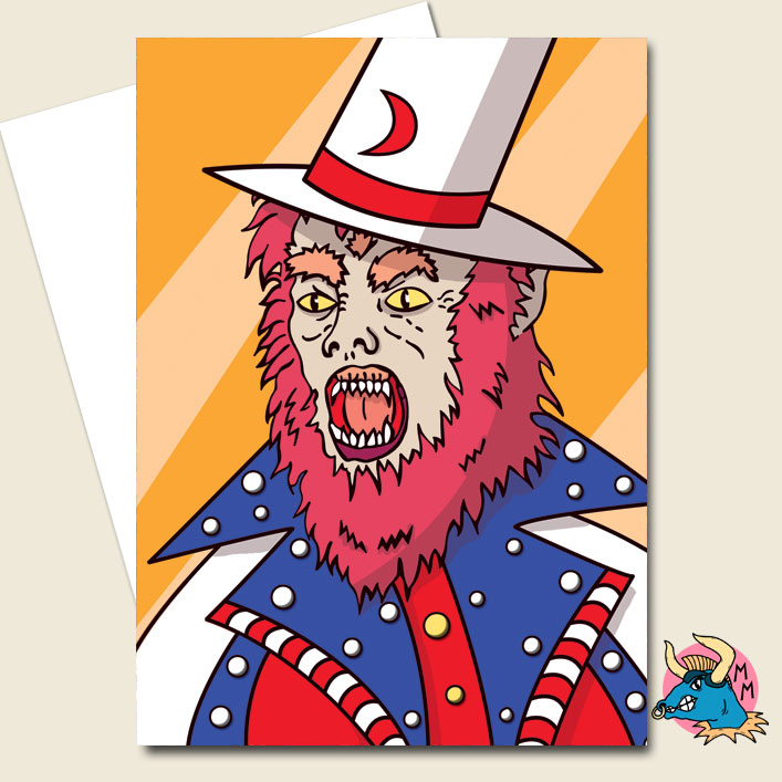 American Werewolf Greeting Card