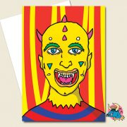 Yellow Devil Greeting Card