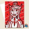 Devil Woman Greeting Card
