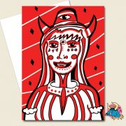 Devil Woman Greeting Card