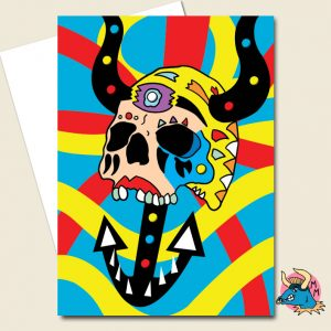 Deep Sea Skull Greeting Card