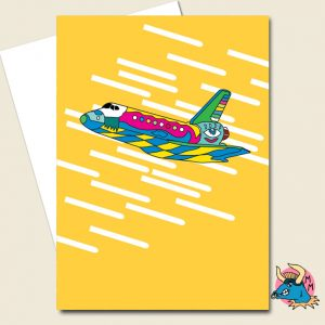 Yellow Shuttle Greeting Card