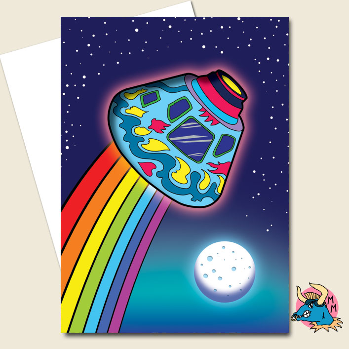 Spaceship Greeting Card