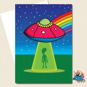 UFO Greeting Card