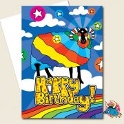 Cosmic Sheep Birthday Card