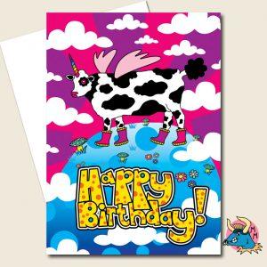 Unicow Birthday Card