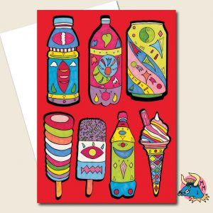 Lollies Greeting Card