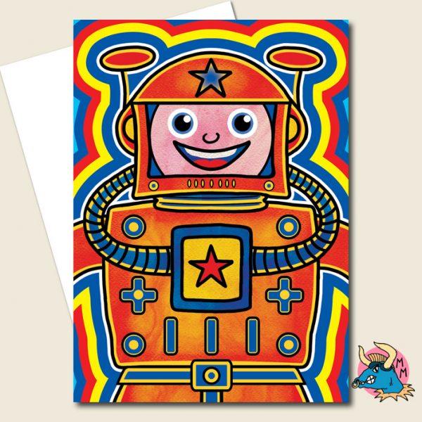 Cosmonaut Greeting Card