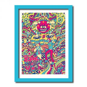 Rave Art Print by Manic_Minotaur