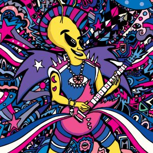 Rock Star Alien Art Print