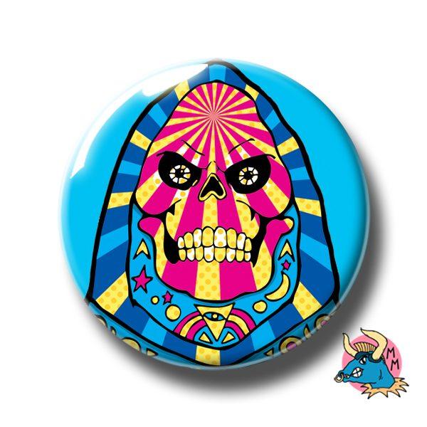 Skeletor Badge Blue