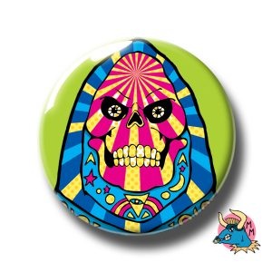 Skeletor Badge Green