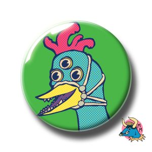 Three Eyed Chicken Badge