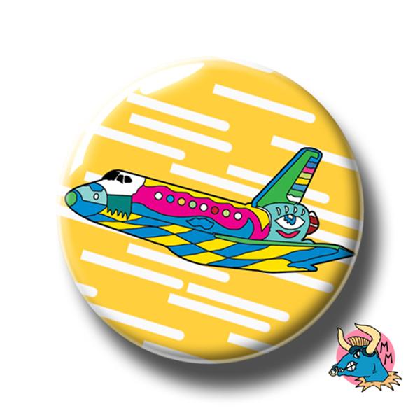 Yellow Shuttle Badge