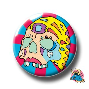 Yellow Skull Badge